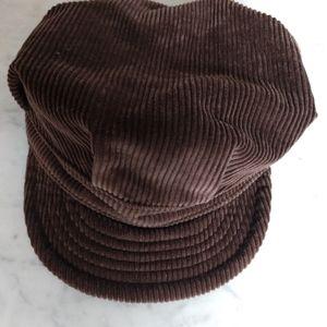 Corduroy paper boy hat